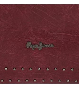 Pepe Jeans Saco de ombro Maroon Chic -25x18x6,5cm