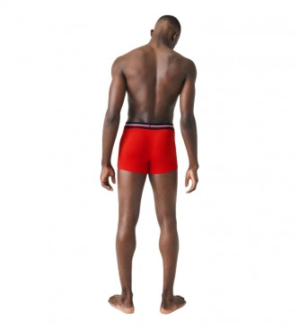 Lacoste Pack of 3 Boxer Court red, navy, grey