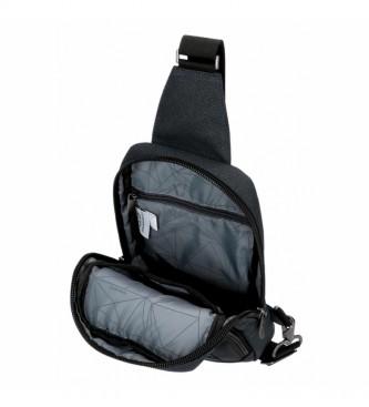 Movom Trimmed crossbody bag black -16x31x5,5cm