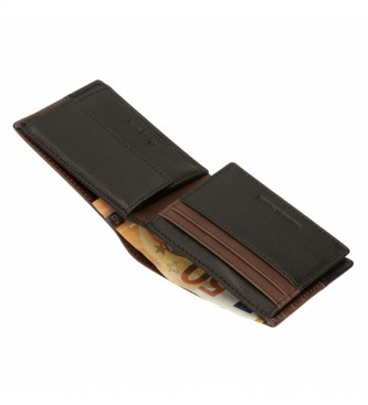 Pepe Jeans Cartera de piel United marrón -11  x 8  x 1 cm -