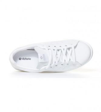 Victoria Esportes de couro branco