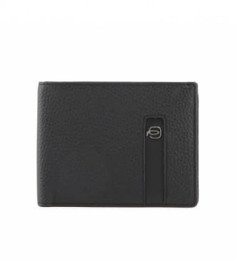 Piquadro Leather wallet PU1241S86 black -13x101,5cm-