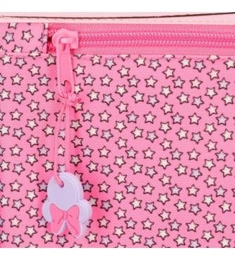Joumma Bags Valigia cabina Minnie Pink Vibes rosa-35x50x18cm-