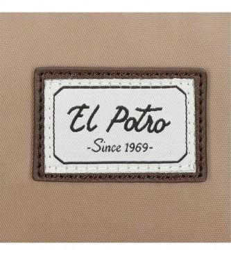 El Potro Porte-documents El Potro Pipe double compartiment 15,6 pouces camel -41x30x10cm