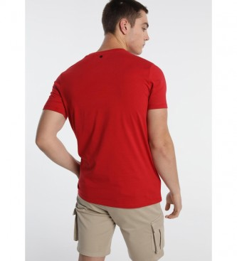 Six Valves Logo T-shirt rouge