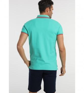 Bendorff Escudo Polo Listras em verde colarinho