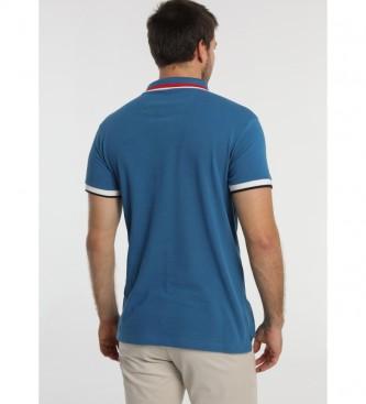 Bendorff Camisa Polo de manga curta em contraste com Bolsos Azuis