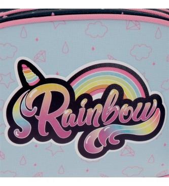 Movom Sac à dos d'école à deux compartiments Movom Rainbow avec chariot multicolore -33x45x17cm