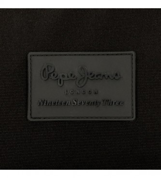 Pepe Jeans Bolso de mano Pepe Jeans Denton Negro -24,5x15x6cm-
