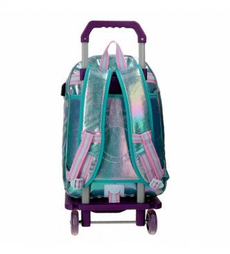 Enso Enso Be a Mermaid Backpack Double Compartment with Trolley -32x44x17cm