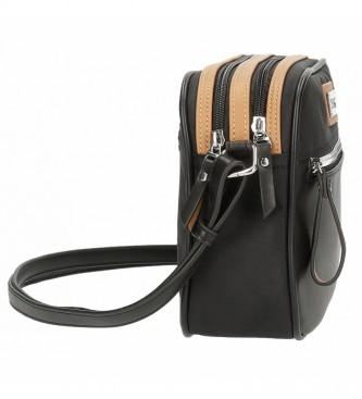 El Potro El Potro Chic saco preto de dois compartimentos -25x19x6,5cm