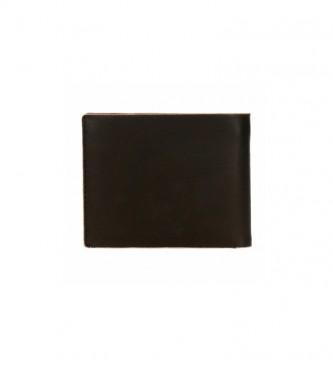 Pepe Jeans Pepe Jeans Portafoglio in pelle raschiata con portacarte nero -11x8,5x1cm