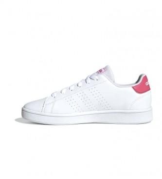 adidas Chaussures Advantage K blanc, rose