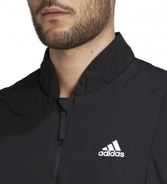 adidas Casaco de volta ao Sport Flece-Lined preto