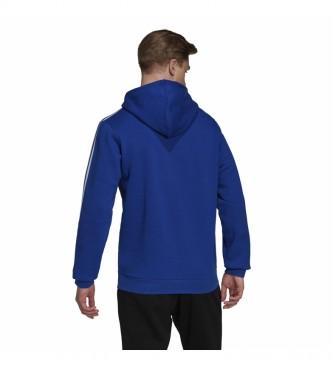 adidas Sudadera Essentials Fleece 3 Bandas Logo azul