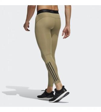 adidas Techfit Tights 3-Stripes verde