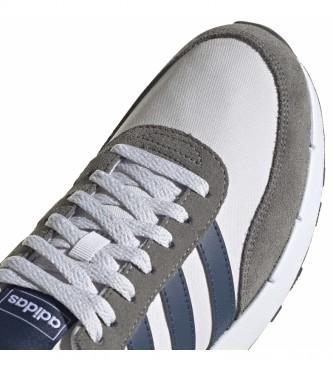 adidas Baskets en cuir Run 60s 2.0 blanc, gris