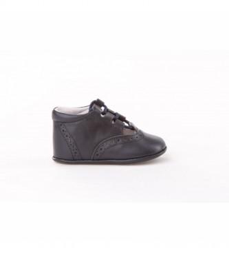 Angelitos Inglesitas chaussures en cuir de la marine