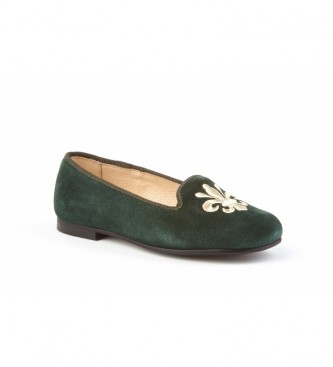 Angelitos Green suede leather shoe