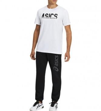 Asics Grande Logotipo Calças de Suor Preto
