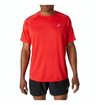 Asics T-shirt rossa con icona a maniche corte