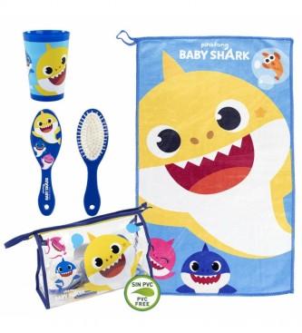 Cerdá Group Saco de banho azul tubarão bebé com conjunto de sanita -23x15x8cm