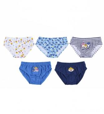 Cerdá Group Lot de 5 caleçons Baby Shark multicolores