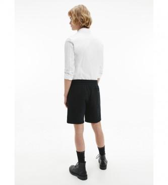 Calvin Klein Camisa CK Peito Slim Stretch branco