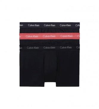 Calvin Klein Pack de 3 Boxers Low Rise Trunk  negro