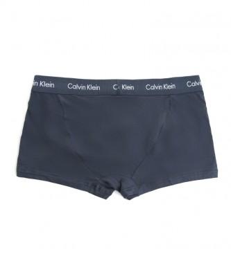 Calvin Klein Pack de 3 Boxers Tiro Bajo 0000U2664G azul, verde