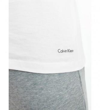 Calvin Klein Pacote de 3 camisetas de pescoço em V brancas