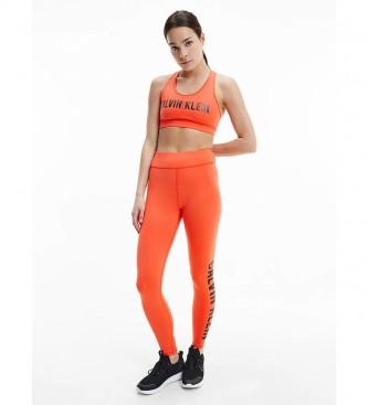 Calvin Klein Orange Logo Sports Leggings