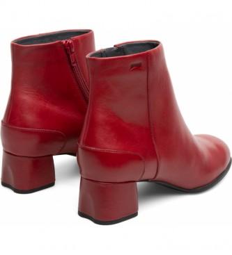 CAMPER Botines de piel Katie rojo -Altura tacón: 5,1cm-