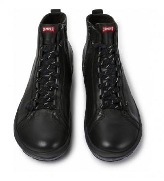 CAMPER Sneakers alte nere in pelle Peu Pista
