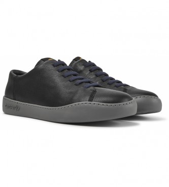 CAMPER Peu Touring leather sneakers black, grey