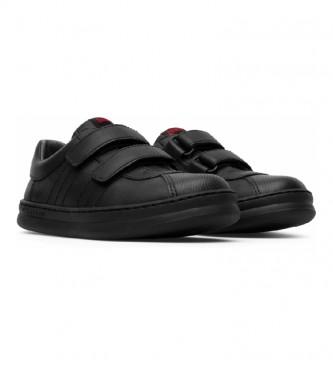 CAMPER Runner Four Kids sapatos de couro preto