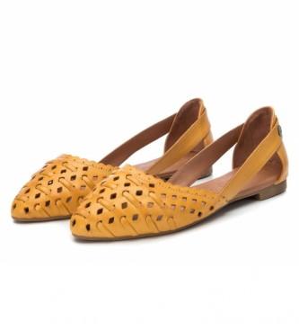 Carmela Ballerines en cuir 067112 jaune