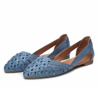 Carmela Ballerines en cuir 067112 bleu