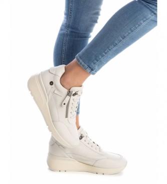 Carmela Zapatillas de piel 067968 blanco