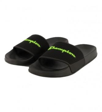 Champion Daytona black flip flops