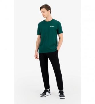 Champion T-Shirt en tricot avec logo Petit vert