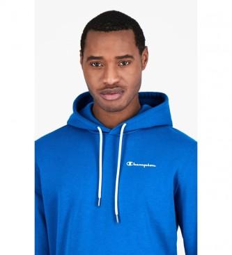 Champion Sweat à capuche imprimé logo Script bleu