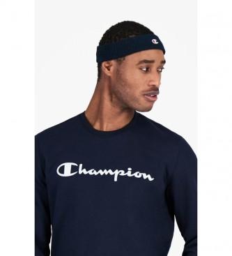 Champion Felpa girocollo con scritta effetto blu scuro