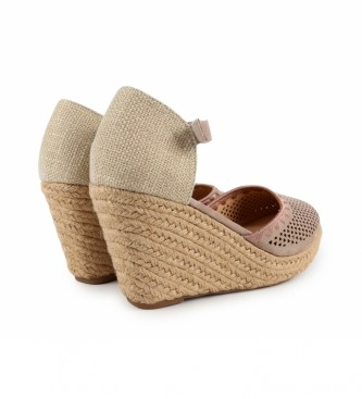 Chika10 Nadia 15 sandali taupe - altezza cuneo: 8cm