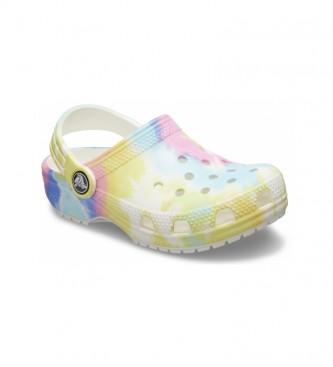 Crocs Tinta Gráfica Clássica Tie Dye Clogs K tamancos multicoloridos
