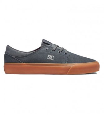 DC Shoes Trase grey leather sneakers
