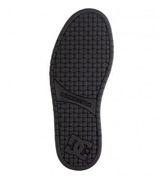 DC Shoes Court Graffik black leather sneakers