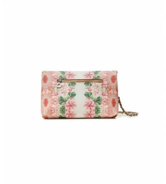 Desigual Flower Valkyria Venecia white, pink handbag
