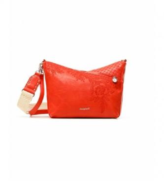 Desigual Letra Harry Mini saco de ombro vermelho vermelho -25x20x10cm