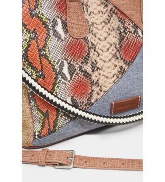 Desigual Mala de Mosaico Multicolor -33x13,2x13,3cm